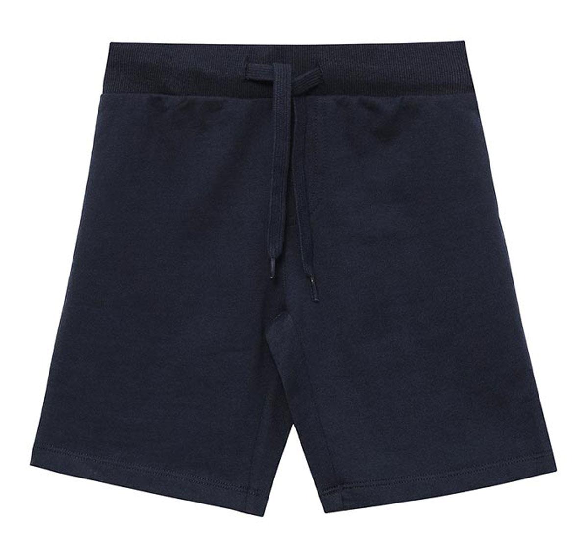 Шорты для мальчика Sela, цвет: темно-синий. SHk-715/302-7161. Размер 110, 5 летSHk-715/302-7161Удобные шорты для мальчика Sela выполнены из качественного хлопкового материала в спортивном стиле. Шорты прямого кроя и стандартной посадки на талии имеют широкий пояс на мягкой резинке, дополнительно регулируемый шнурком.