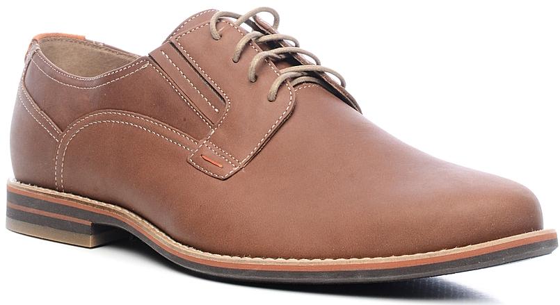 Туфли мужские Marko, цвет: коричневый. 27975. Размер 4427975Элегантные мужские туфли от Marko отлично дополнят ваш деловой образ.Модель выполнена из высококачественной натуральной кожи. Классическая шнуровка на подъеме обеспечит оптимальную посадку модели на ноге. Кожаная стелька с супинатором обеспечивает максимальный комфорт при движении. Умеренной высоты каблук и подошва с рифлением обеспечивают отличное сцепление с поверхностью.