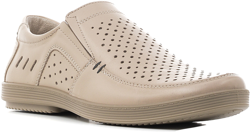 Туфли мужские Marko, цвет: бежевый. 44103. Размер 4144103Элегантные мужские туфли отлично дополнят ваш деловой образ.Модель выполнена из высококачественной натуральной кожи. Резинки, расположенные на подъеме, обеспечивают оптимальную посадку модели на ноге. Кожаная стелька с супинатором обеспечивает максимальный комфорт при движении. Подошва с рифлением обеспечивают отличное сцепление с поверхностью.