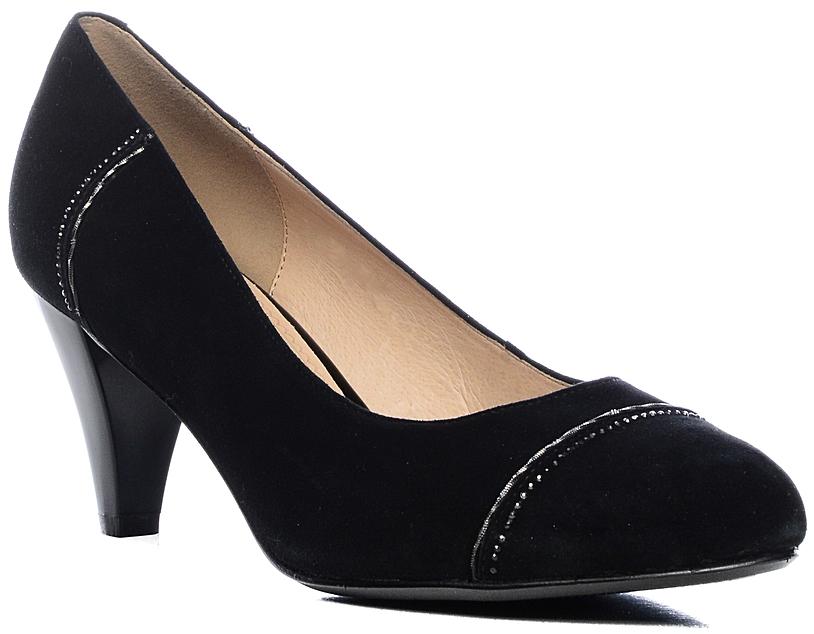 Туфли женские Marko, цвет: черный. 131286. Размер 37131286Элегантные туфли на невысоком каблуке, выполненные из натурального велюра. Внутренняя поверхность и стелька из натуральной кожи обеспечат комфорт при движении. Эти туфли можно сочетать с самыми разнообразными вещами вашего гардероба, в них вашим ногам будет комфортно и уютно.