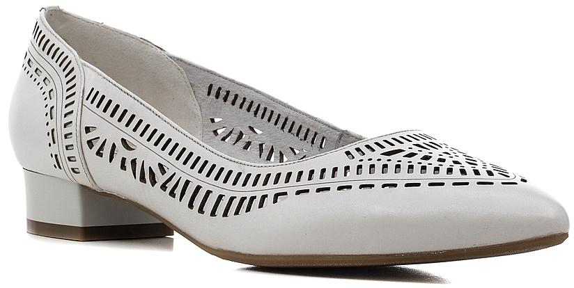Туфли женские Marko, цвет: белый. 141135. Размер 42141135Элегантные туфли на невысоком каблуке, выполненные из натуральной кожи, оформлены перфорацией. Внутренняя поверхность и стелька из натуральной кожи обеспечат комфорт при движении.Эти туфли можно сочетать с самыми разнообразными вещами вашего гардероба, в них вашим ногам будет комфортно и уютно.