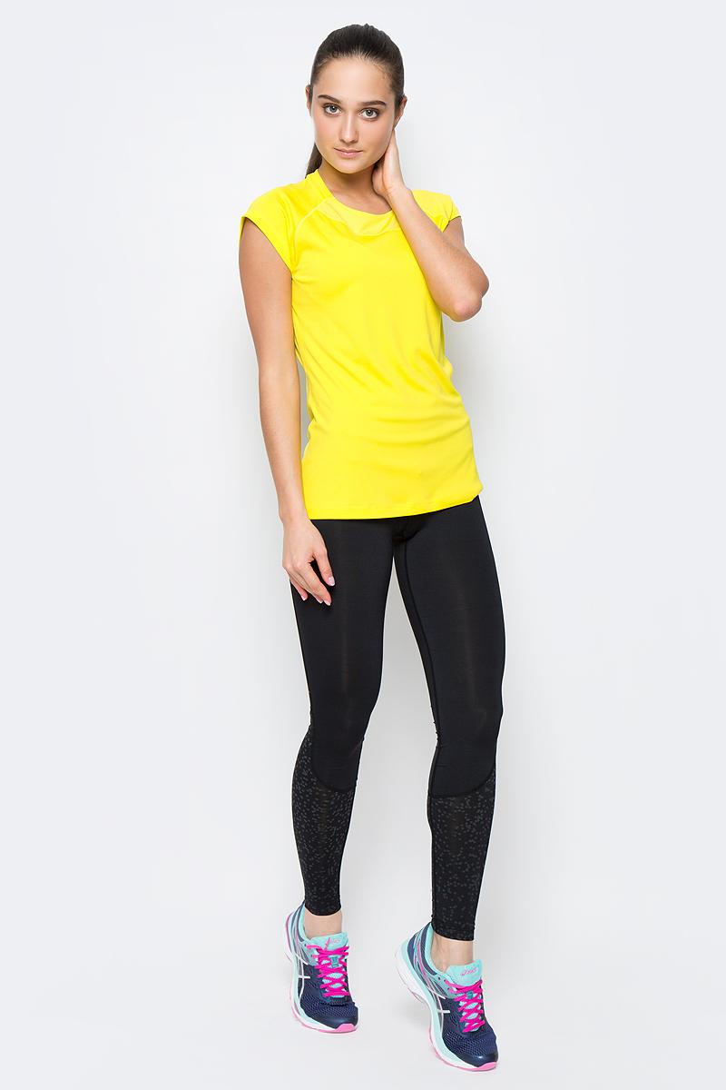 Футболка для бега женская Asics Capsleeve Top, цвет: желтый. 141646-0343. Размер M (44/46)141646-0343Футболка Asics Capsleeve Top выполнена эластичной ткани с дышащими вставками. Изделие с круглым воротом и коротким рукавами реглан. Модель дополнена светоотражающими элементами. Технология Motion Dry позволяет выводить влагу, оставляя тело сухим и сохраняя его оптимальный температурный режим.