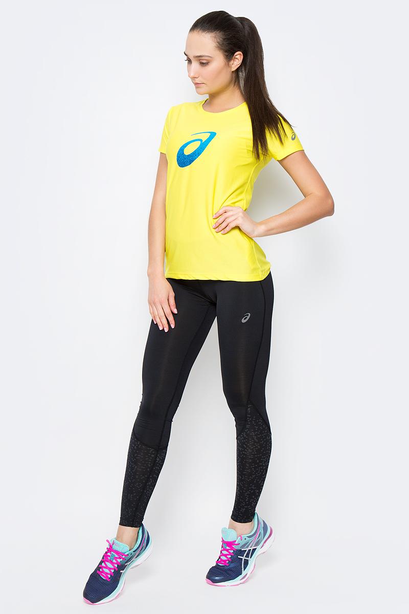 Футболка для бега женская Asics Graphic SS Top, цвет: желтый. 134105-0343. Размер L (46/48)134105-0343Женская футболка Asics Graphic Ss Top предназначена специально для бега. Эта легкая беговая футболка обеспечит вам безупречный комфорт и достижение высоких спортивных результатов благодаря мягкой эластичной ткани, которая отводит влагу и поддерживает тело сухим. Плоские швы не натирают кожу и обеспечивают полный комфорт.Футболка декорирована светоотражающим логотипом бренда. Максимальный комфорт и уникальный спортивный образ!