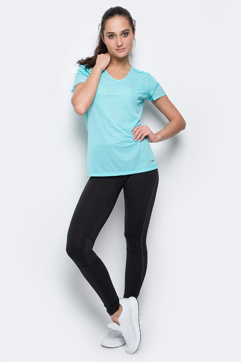 Тайтсы для бега женские Salomon Agile Long Tight, цвет: черный. L38279600. Размер XL (52/54)L38279600Женские тайтсы для бега Salomon Agile Long Tight изготовлены из полиэстера с добавлением эластана. Модель с широкой резинкой и шнурком-утяжкой на талии. Комфортные плоские швы исключают риск натирания даже во время интенсивных занятий спортом. Низ брючин дополнен застежками-молниями. Сзади расположен прорезной карман на молнии. Легкие, эластичные и удобные узкие тайтсы с вентиляционными вставками с задней стороны коленей предназначены для использования в любое время года.