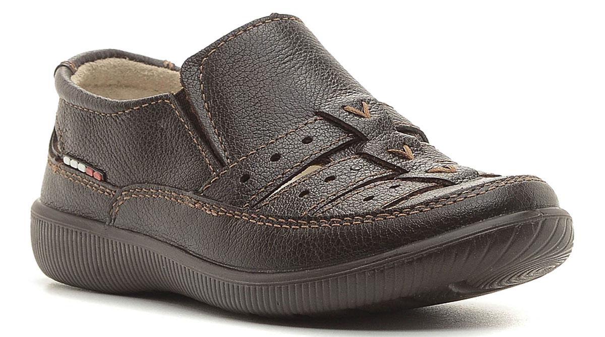 Туфли для мальчика San Marko, цвет: коричневый. 5430. Размер 305430Модные туфли для мальчика выполнены из высококачественной натуральной кожи. Резинки, расположенные на подъеме, обеспечивают оптимальную посадку модели на ноге. Кожаная стелька с супинатором обеспечивает максимальный комфорт при движении. Подошва с рифлением обеспечивают отличное сцепление с поверхностью.