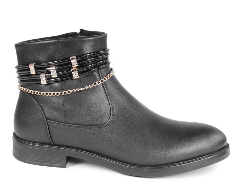 Ботинки для девочки San Marko, цвет: черный. 62133. Размер 3662133Стильные ботинки для девочки отлично дополнят гардероб вашей модницы. Модель выполнена из искусственной кожи. Застежка-молния на подъеме отлично зафиксирует модель на ноге. Текстильная стелька обеспечит максимальный комфорт при движении. Подошва оснащена рифлением.