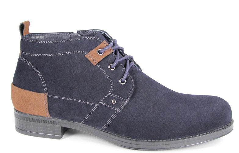 Ботинки для мальчика San Marko, цвет: темно-синий. 62143. Размер 3762143Стильные ботинки для мальчика выполнены из высококачественного искусственного нубука. Классическая шнуровка на подъеме отлично зафиксируют модель на ноге. Текстильная стелька и внутренняя поверхность обеспечивают максимальный комфорт при движении. Подошва оснащена рифлением.
