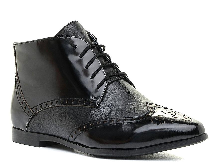 Ботинки женские Marko, цвет: черный. 12314. Размер 3612314Стильные ботинки выполнены из высококачественной натуральной кожи. Шнуровка на подъеме отлично зафиксируют модель на ноге. Текстильная стелька и внутренняя поверхность обеспечивают максимальный комфорт при движении. Подошва оснащена рифлением.