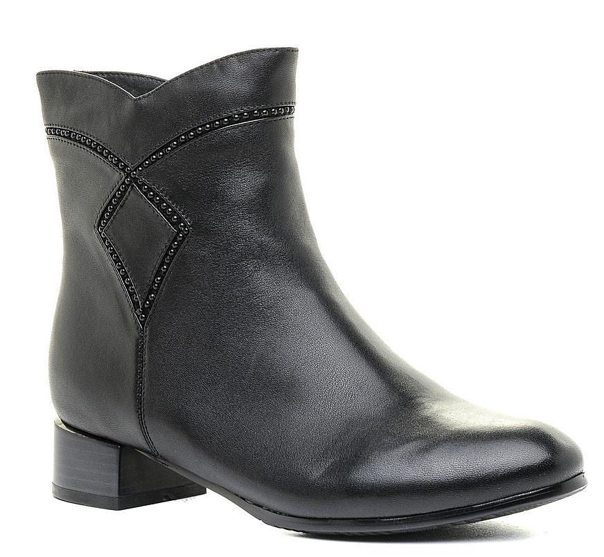 Ботинки женские Marko, цвет: черный. 12316. Размер 3712316Стильные ботинки выполнены из высококачественной натуральной кожи. Застежка-молния надежно зафиксируют модель на ноге. Текстильная стелька и внутренняя поверхность обеспечивают максимальный комфорт при движении. Подошва оснащена рифлением.