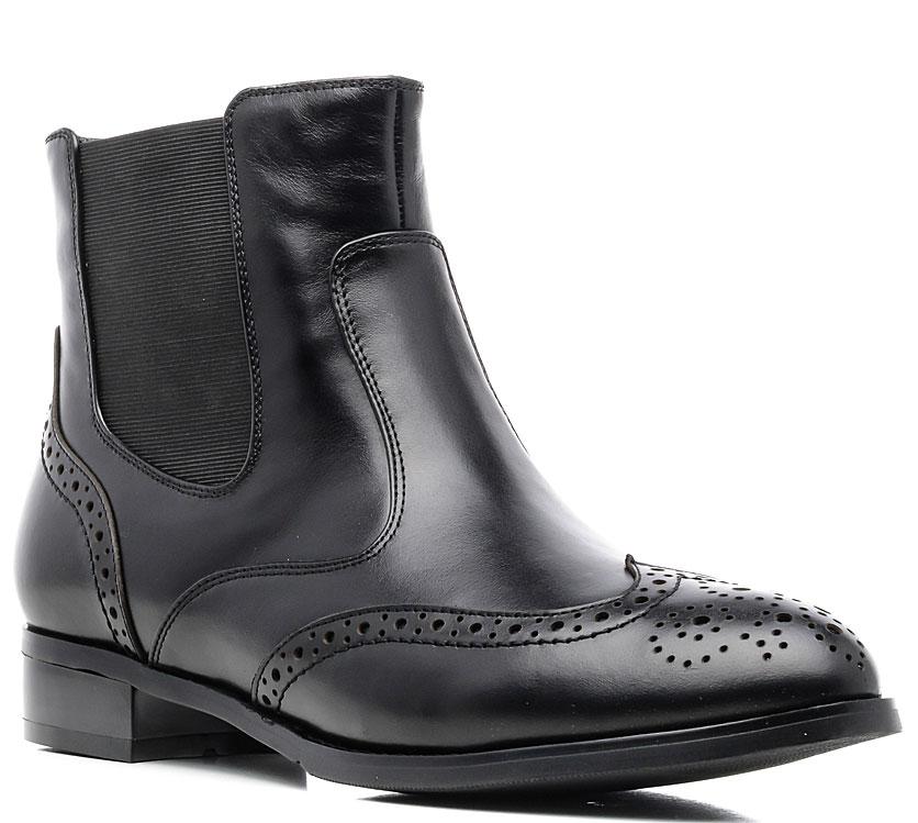 Ботинки женские Marko, цвет: черный. 12369. Размер 3712369Стильные ботинки выполнены из высококачественной натуральной кожи. Застежка-молния отлично зафиксирует модель на ноге. Текстильная стелька и внутренняя поверхность обеспечивают максимальный комфорт при движении. Подошва оснащена рифлением.