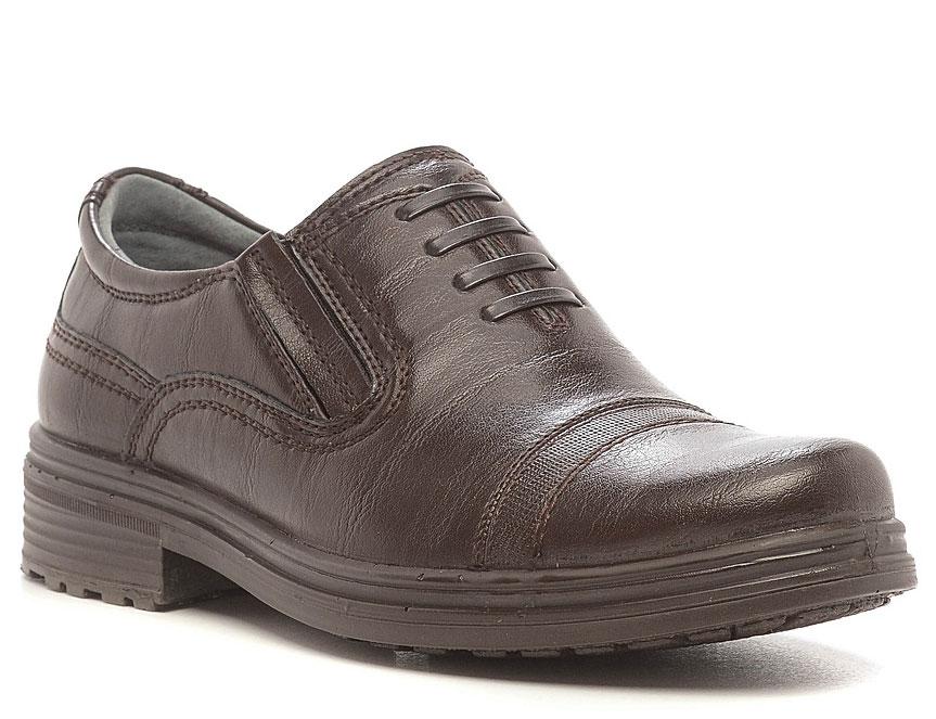 Полуботинки для мальчика San Marko, цвет: коричневый. 63048. Размер 3263048Стильные полуботинки для мальчика выполнены из высококачественной искусственной кожи. Резинки на подъеме отлично зафиксируют модель на ноге. Кожаная стелька и внутренняя поверхность обеспечивают максимальный комфорт при движении. Подошва оснащена рифлением.