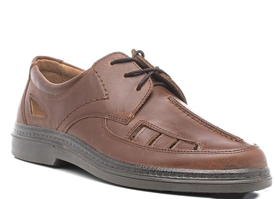 Полуботинки мужские Marko, цвет: коричневый. 4428. Размер 43,54428Стильные мужские полуботинки отлично дополнят ваш деловой образ.Модель выполнена из высококачественной натуральной кожи. Классическая шнуровка на подъеме отлично зафиксирует модель на ноге. Кожаная стелька с супинатором обеспечивает максимальный комфорт при движении. Подошва оснащена рифлением.