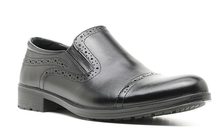 Полуботинки мужские Marko, цвет: черный. 47154. Размер 4447154Элегантные мужские полуботинки отлично дополнят ваш деловой образ.Модель выполнена из высококачественной натуральной кожи. Резинки, расположенные на подъеме, обеспечивают оптимальную посадку модели на ноге. Кожаная стелька с супинатором обеспечивает максимальный комфорт при движении. Подошва оснащена рифлением.