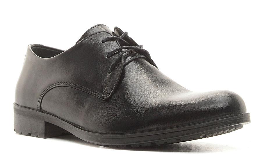 Полуботинки мужские Marko, цвет: черный. 47161. Размер 4247161Элегантные мужские полуботинки отлично дополнят ваш деловой образ.Модель выполнена из высококачественной натуральной кожи. Классическая шнуровка на подъеме отлично зафиксирует модель на ноге. Кожаная стелька с супинатором обеспечивает максимальный комфорт при движении. Подошва оснащена рифлением.