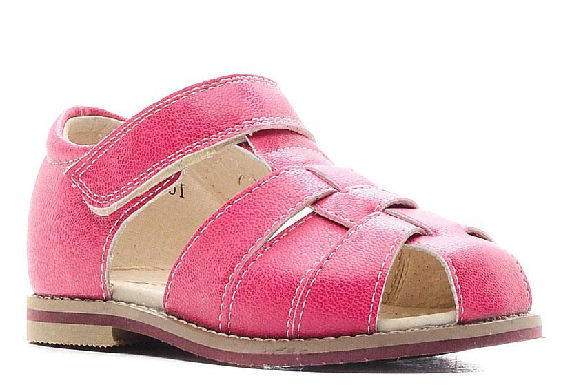 Сандалии для девочки San Marko, цвет: розовый. 044774. Размер 25044774Модные сандалии обязательно придутся по вкусу вашей юной моднице.Модель выполнена из искусственной кожи. Хлястик с липучкой на подъеме обеспечит оптимальную посадку модели на ноге. Кожаная стелька с супинатором обеспечивает максимальный комфорт при движении. Подошва с рифлением обеспечивают отличное сцепление с поверхностью.