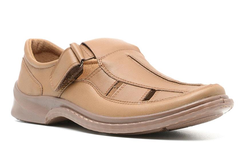 Сандалии мужские Marko, цвет: коричневый. 4435. Размер 414435Элегантные мужские туфли отлично дополнят ваш деловой образ.Модель выполнена из высококачественной натуральной кожи. Хлястик с застежкой-липучкой зафиксирует модель на ноге. Кожаная стелька с супинатором обеспечивает максимальный комфорт при движении. Подошва с рифлением обеспечивают отличное сцепление с поверхностью.