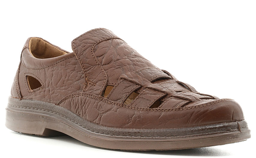 Сандалии мужские Marko, цвет: коричневый. 4450. Размер 414450Элегантные мужские сандалии отлично дополнят ваш образ.Модель выполнена из высококачественной натуральной кожи. Кожаная стелька обеспечивает максимальный комфорт при движении. Подошва с рифлением обеспечивают отличное сцепление с поверхностью.