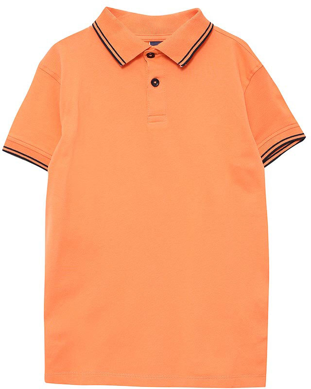 Поло для мальчика Sela, цвет: розово-оранжевый. Tsp-711/520-7161. Размер 104, 4 годаTsp-711/520-7161Стильная футболка-поло для мальчика Sela выполнена из качественного хлопкового материала и оформлена контрастными полосками на воротнике и манжетах рукавов. Модель прямого кроя с разрезами по бокам и отложным воротничком застегивается на пуговицы до середины груди.Яркий цвет модели позволяет создавать стильные летние образы.