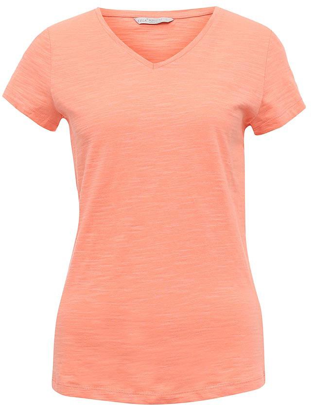 Футболка женская Sela, цвет: бледно-оранжевый. Ts-111/1227-7181. Размер M (46)Ts-111/1227-7181Стильная женская футболка Sela станет отличным дополнением к гардеробу каждой модницы. Модель полуприлегающего силуэта с V-образным вырезом горловины и короткими рукавами изготовлена из натурального хлопка. Воротник дополнен мягкой эластичной бейкой.Универсальный цвет позволяет сочетать модель с любой одеждой.