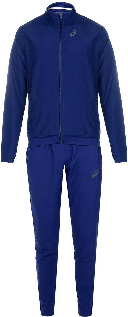 Спортивный костюм мужской Asics M Club Suit, цвет: синий. 141161-8052. Размер XL (52/54)141161-8052Мужской спортивный костюм Asics M Club Suit включает в себя олимпийку и спортивные брюки. Благодаря особой системе контроля над потом, ткань этого костюма эффективно впитывает пот и обеспечивает сухость и комфорт. Вставки из сетчатого материала гарантируют легкость движений и дают дополнительную вентиляцию, чтобы вы могли двигаться быстро и эффективно.Олимпийка с длинными рукавами и воротником-стойкой застегивается на застежку-молнию спереди. Модель изготовлена из высококачественного полиэстера. Изделие дополнено двумя втачными карманами на застежках-молниях спереди. Объем капюшона регулируется при помощи шнурка-кулиски. Брюки прямого кроя и средней посадки имеют широкую эластичную резинку на поясе. Объем талии регулируется при помощи шнурка-кулиски. Комфортные эластичные швы не стесняют движений и исключают натирание даже во время интенсивных тренировок. Спереди расположены два втачных кармана. Брючины дополнены застежками-молниями снизу.