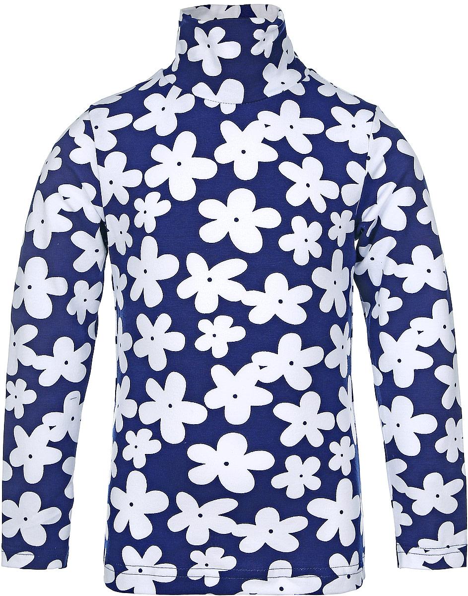 Водолазка для девочки КотМарКот Ромашка, цвет: белый, темно-синий. 13741. Размер 98, 3 года13741Водолазка для девочки КотМарКот Ромашка с длинными рукавами и воротником-гольф выполнена из натурального хлопка. Изделие оформлено контрастным цветочным принтом.