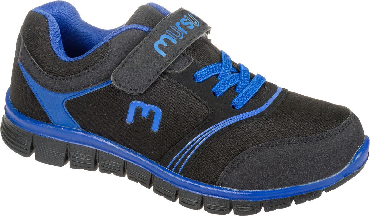Кроссовки для мальчика Mursu, цвет: черный, синий. 101569. Размер 30101569Стильные кроссовки от Mursu предназначены для занятий спортом и повседневной носки. Модель выполнена из качественного текстиля с элементами из искусственной кожи и оформлена оригинальным принтом. Хлястик с липучкой и удобная шнуровка прочно закрепят модель на ноге. Подкладка и стелька из текстиля и натуральной кожи гарантируют комфорт при носке. Гибкая подошва с рифлением обеспечивает идеальное сцепление с разными поверхностями.