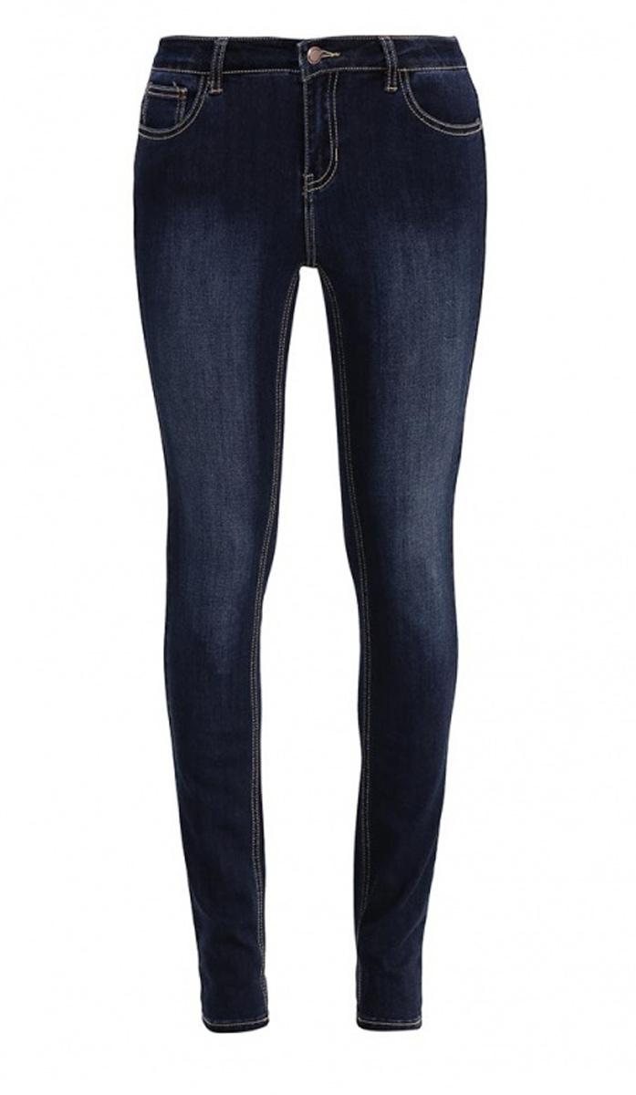 Джинсы женские Sela Denim, цвет: темно-синий джинс. PJ-135/587-7161. Размер 27-34 (42/44-34)PJ-135/587-7161Стильные джинсыSela, изготовленные из качественного материала с контрастной строчкой и потертостями, станут отличным дополнением вашего гардероба. Джинсы прилегающего кроя и стандартной посадки на талии застегиваются на застежку-молнию и пуговицу. На поясе имеются шлевки для ремня. Модель представляет собой классическую пятикарманку: два втачных и накладной карманы спереди и два накладных кармана сзади.