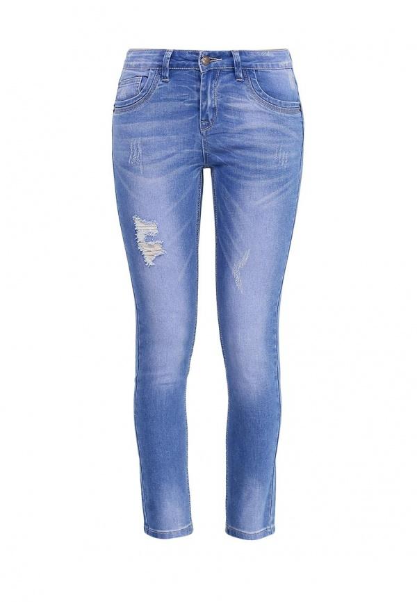 Джинсы женские Sela Denim, цвет: синий джинс. PJ-335/587-7111. Размер 28-32 (44-32)PJ-335/587-7111Стильные джинсы Sela, изготовленные из качественного хлопкового материала с потертостями и разрывами, станут отличным дополнением вашего гардероба. Джинсы прилегающего кроя и стандартной посадки на талии застегиваются на застежку-молнию и пуговицу. На поясе имеются шлевки для ремня. Модель представляет собой классическую пятикарманку: два втачных и накладной карманы спереди и два накладных кармана сзади.