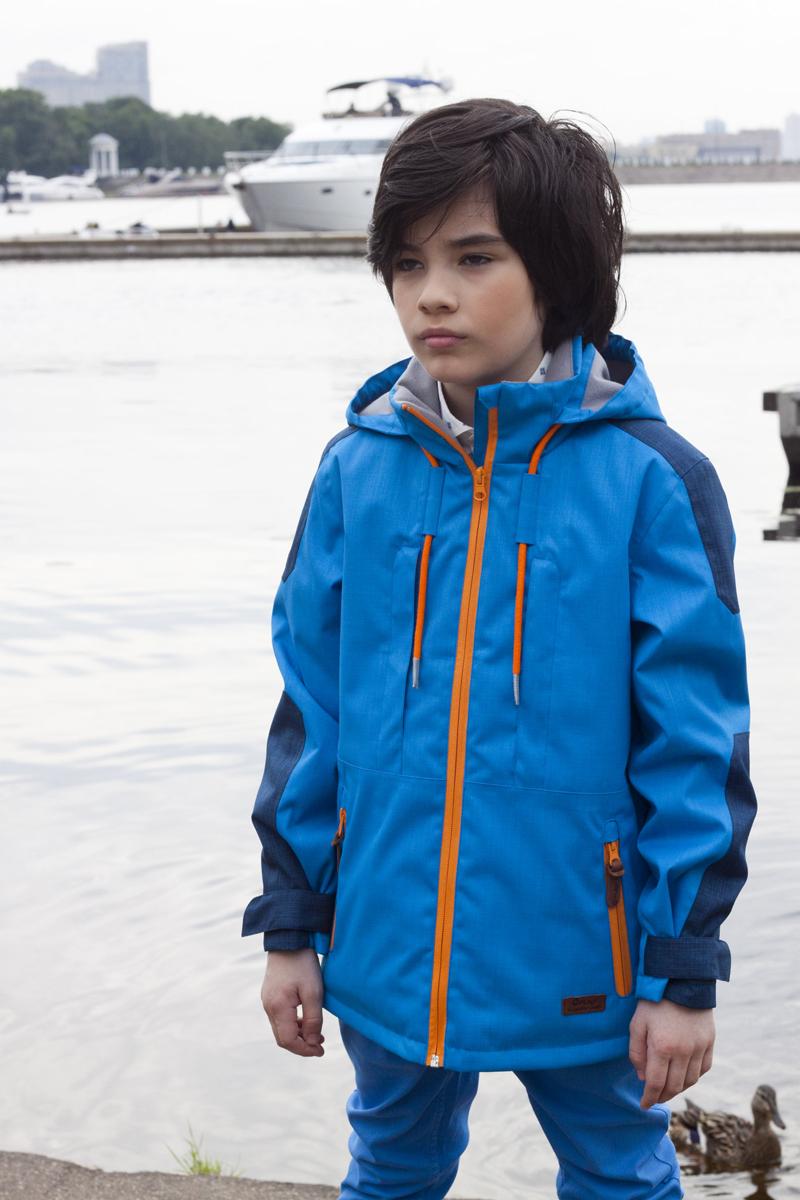 Куртка для мальчика atPlay!, цвет: голубой. 2jk714. Размер 146, 11-12 лет2jk714Куртка для мальчика atPlay выполнена из качественного полиэстера.Стильная куртка - парка на весну для мальчика. Давно полюбившаяся взрослым и детям удлиненная модель куртки. Универсальна в сочетании с различными стилями – уместна и с классическими школьными брюками и в спортивных сочетаниях. В весенней коллекции 2017 канадского бренда AtPlay! Мембранная ткань, покрытие верха Teflon от Dupont, утеплитель Shelter – надежная защита от любых погодных явлений. Куртка-парка от At-Play! - стильный и практичный выбор.