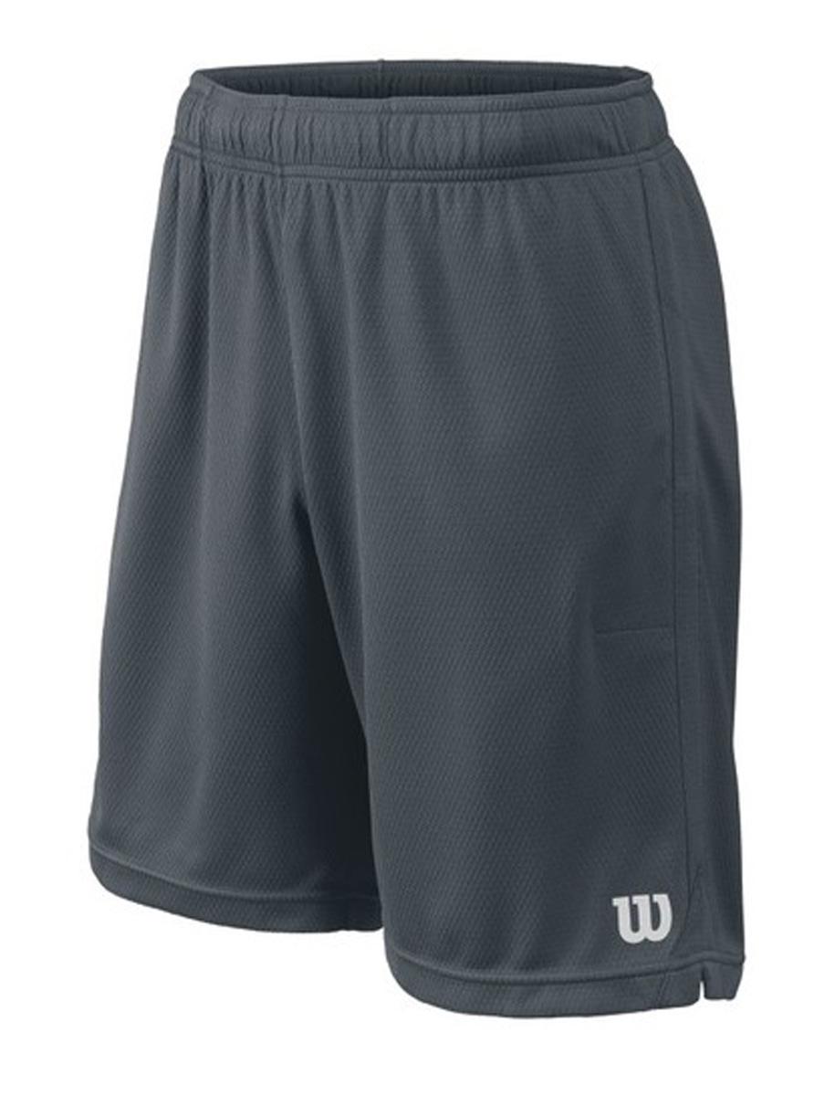 Шорты для тенниса мужские Wilson Knit 9 Short, цвет: серый. WRA746802. Размер M (50)WRA746802Классические шорты для тенниса Wilson, разработанные теннисистами для теннисистов. Сочетают в себе весь спектр самых новейших разработок Wilson: 1) теннисный карман Wilson; 2) nanoWik - технология влаговыведения; 3) nanoUV - технология защиты от УФ-излучения.