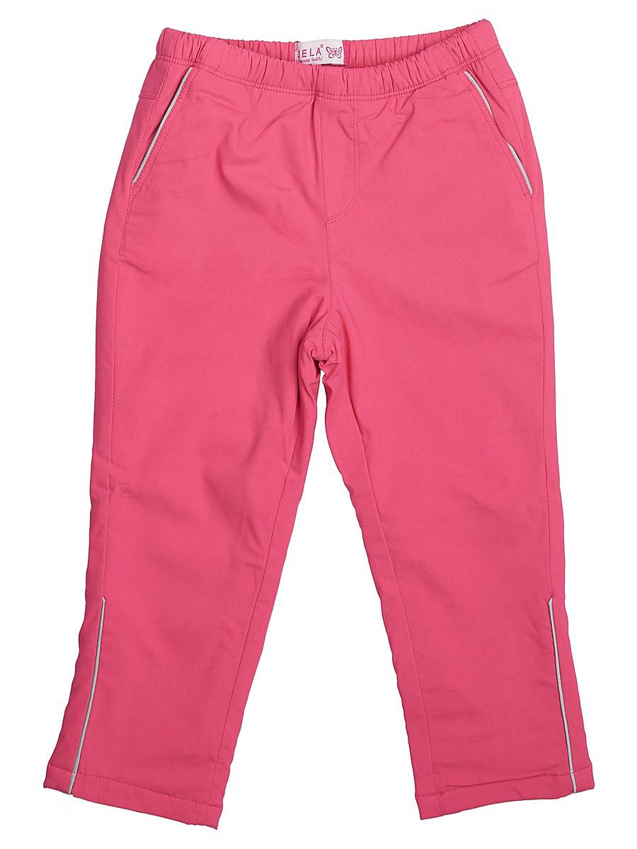 Брюки для девочки Sela, цвет: ярко-розовый. Ppf-525/103-7111. Размер 104, 4 годаPpf-525/103-7111Модные брюки для девочки Sela отличной подойдут для прогулок и игр на свежем воздухе. Брюки выполнены из вискозы с добавлением эластана и нейлона на подкладке из полиэстера. Модель имеет пояс на мягкой резинке и дополнена двумя втачными карманами.
