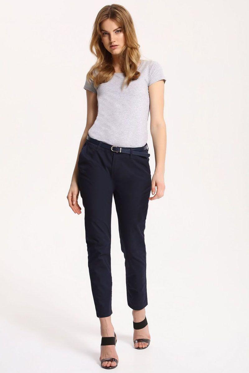 Брюки женские Top Secret, цвет: темно-синий. SSP2414GR. Размер 42 (50)SSP2414GRСтильные женские брюки Top Secret - брюки высочайшего качества на каждый день, которые прекрасно сидят. Модель изготовлена из высококачественного комбинированного материала. Эти модные и в тоже время комфортные брюки послужат отличным дополнением к вашему гардеробу. В них вы всегда будете чувствовать себя уютно и комфортно.