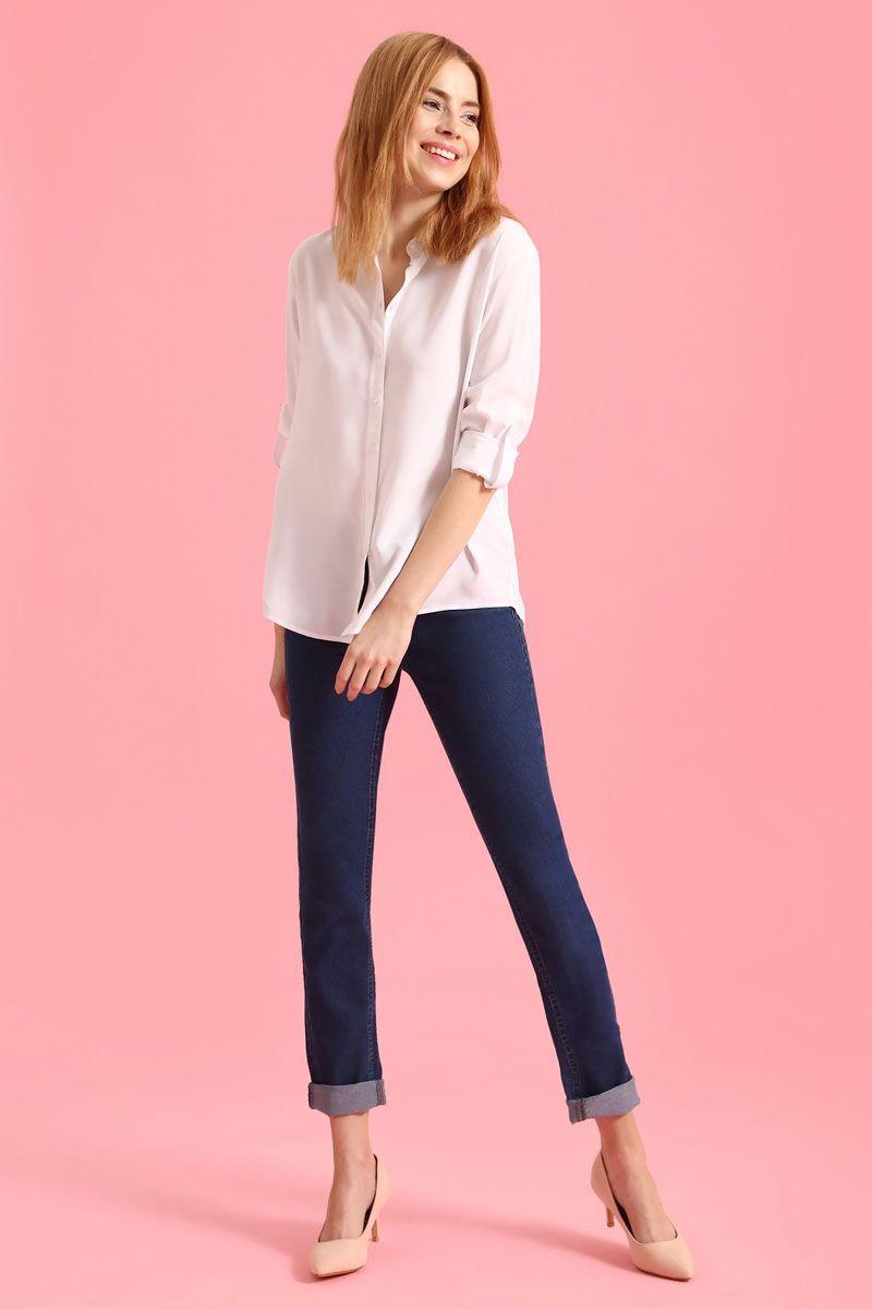 Рубашка женская Top Secret, цвет: белый. SKL2238BI. Размер 42 (50)SKL2238BIРубашка женская Top Secret выполнена из 100% вискозы. Модель с отложным воротником застегивается на пуговицы.