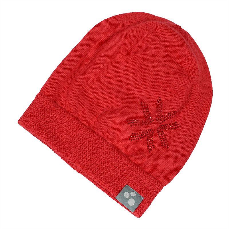 Шапка для девочки Huppa Erika, цвет: красный. 80370000-70004. Размер L (55/57)80370000-70004Теплая вязаная шапочка Huppa Erika согреет вашего ребенка в прохладную погоду. Шапочка декорирована стразами.