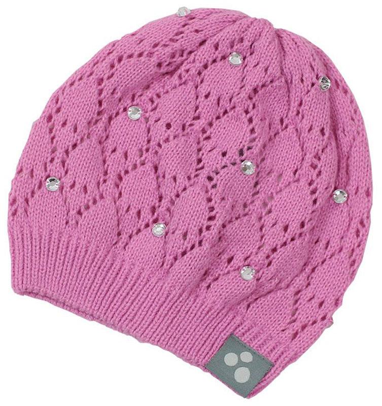 Шапка для девочки Huppa Lacy, цвет: розовый. 80390000-70013. Размер M (51/53)80390000-70013Вязаная шапочка Huppa Lacy согреет вашего ребенка в прохладную погоду. Шапочка с ажурным рисунком декорирована стразами.