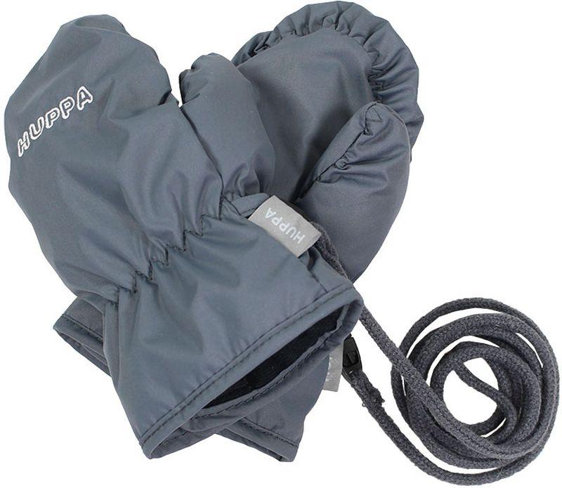Варежки детские Huppa Fifi, цвет: серый. 8106BASE-048. Размер 18106BASE-048Детские варежки Huppa Liina, изготовленные из высококачественного полиэстера, станут идеальным вариантом, для холодной зимней погоды. Варежки дополнены длинным шнурком.