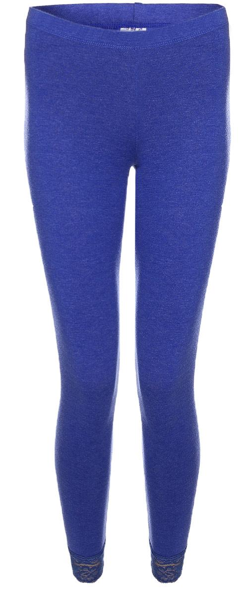 Лосины женские Sela, цвет: синий меланж. PLGU-156/007-7101. Размер XL (50)PLGU-156/007-7101Модные лосины Sela изготовлены из натурального хлопка с добавлением полиэстера и эластана. Облегающий крой обеспечит комфортную посадку. На талии широкая эластичная резинка, низ брючин отделан кружевом.