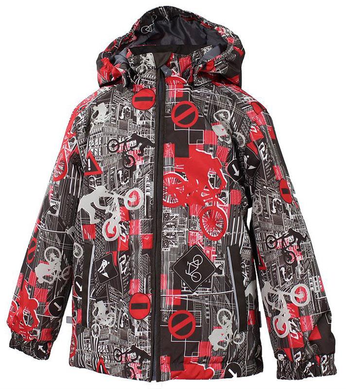 Куртка для мальчика Huppa Jody, цвет: красный, серый, белый. 17000004-72281. Размер 12817000004-72281Куртка с подкладкой для мальчика Huppa c длинными рукавами, воротником-стойкой и съемным капюшоном, выполнена из высококачественного водонепроницаемого и ветрозащитного материала на основе полиэстера. Модель застегивается на застежку-молнию с защитой подбородка спереди. Изделие имеет два прорезных кармана на застежках-молниях. Манжеты рукавов собраны на внутренние резинки. Модель оформлена оригинальным контрастным принтом. На изделии имеются светоотражательные элементы для безопасности в темное время суток.