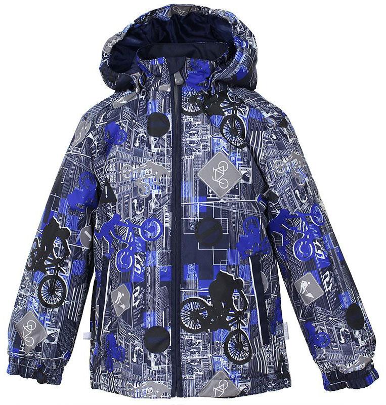 Куртка для мальчика Huppa Jody, цвет: темно-синий, синий, серый. 17000004-72286. Размер 11617000004-72286Куртка с подкладкой для мальчика Huppa c длинными рукавами, воротником-стойкой и съемным капюшоном, выполнена из высококачественного водонепроницаемого и ветрозащитного материала на основе полиэстера. Модель застегивается на застежку-молнию с защитой подбородка спереди. Изделие имеет два прорезных кармана на застежках-молниях. Манжеты рукавов собраны на внутренние резинки. Модель оформлена оригинальным контрастным принтом. На изделии имеются светоотражательные элементы для безопасности в темное время суток.