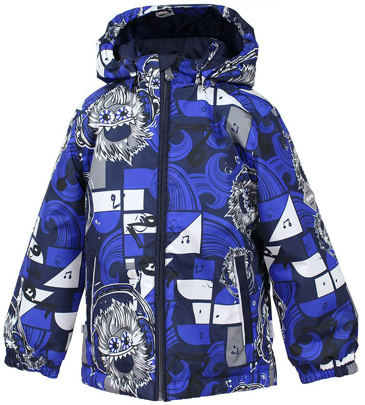 Куртка для мальчика Huppa Jody, цвет: синий, белый. 17000004-73186. Размер 12817000004-73186Куртка с подкладкой для мальчика Huppa c длинными рукавами, воротником-стойкой и съемным капюшоном, выполнена из высококачественного водонепроницаемого и ветрозащитного материала на основе полиэстера. Модель застегивается на застежку-молнию с защитой подбородка спереди. Изделие имеет два прорезных кармана на застежках-молниях. Манжеты рукавов собраны на внутренние резинки. Модель оформлена оригинальным контрастным принтом. На изделии имеются светоотражательные элементы для безопасности в темное время суток.