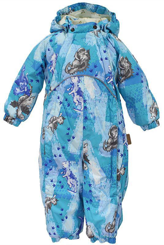 Комбинезон для мальчика Huppa Golden, цвет: синий, голубой. 36080004-72106. Размер 6236080004-72106Детский утепленный комбинезон Huppa изготовлен из непромокаемой ветрозащитной ткани на основе полиэстера. Модель застегивается на две застежки-молнии спереди и на кнопки на воротнике. Комбинезон с длинными рукавами, воротником-стойкой дополнен светоотражающими полосками. Съемный капюшон дополнен двумя эластичными резинками по бокам. Рукава дополнены манжетами. Брючины дополнены манжетами.Плотность утеплителя: 40 г/м2.