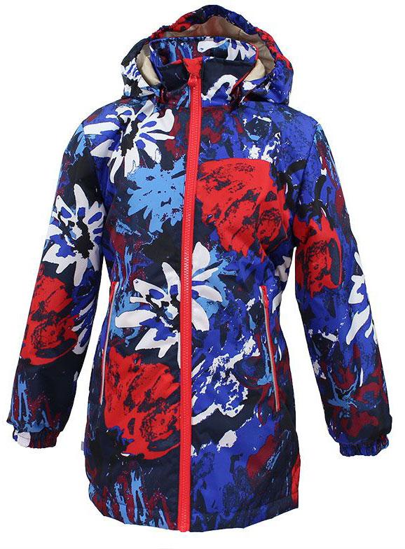 Куртка для девочки Huppa June, цвет: синий, мультиколор. 17880010-71235. Размер 12217880010-71235Куртка для девочки Huppa June изготовлена из водонепроницаемого полиэстера. Куртка со съемным капюшоном застегивается на пластиковую застежку-молнию. Высокотехнологичный лёгкий синтетический утеплитель нового поколения, сохраняет объём и высокую теплоизоляцию изделия. Края капюшона и рукавов дополнены резинками. Сзади на талии ткань собрана на внутренние резинки. У модели имеются два врезных кармана на застежках-молниях. Изделие дополнено светоотражающими элементами.