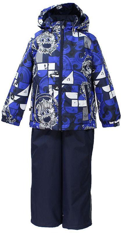 Комплект одежды для мальчика Huppa Yoko 1: куртка, брюки, цвет: темно-синий, белый. 41190114-73186. Размер 14641190114-73186Комплект верхней одежды для мальчика Huppa Yoko выполнен из износостойкого полиэстера и состоит из куртки и брюк. В качестве подкладки и утеплителя используется качественный полиэстер. Брюки застегиваются на молнию и металлическую кнопку. Изделие дополнено съемными резиновыми подтяжками, длину которых можно регулировать. На талии имеется вшитая эластичная резинка. Снизу брючин предусмотрены шнурки-утяжки со стопперами. Куртка со съемным капюшоном и воротником-стойкой застегивается на пластиковую молнию. Капюшон пристегивается при помощи металлических кнопок. Манжеты рукавов собраны на внутренние резинки, низ куртки оснащен эластичным шнурком. Спереди модель дополнена двумя врезными карманами.Комплект оснащен светоотражающими элементами.
