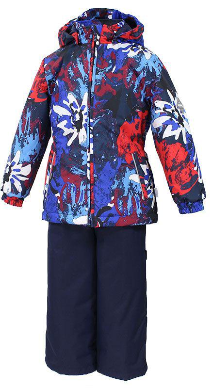 Комплект одежды для девочки Huppa Yonne: куртка, брюки, цвет: темно-синий, красный, белый. 41260014-71235. Размер 12241260014-71235Комплект верхней одежды для девочки Huppa Yonne выполнен из износостойкого полиэстера и состоит из куртки и брюк. В качестве подкладки и утеплителя используется полиэстер. Ткань имеет водонепроницаемость 10000 мм, воздухопроницаемость 10000 г/м2. Брюки с высокой грудкой застегиваются на молнию. Изделие дополнено мягкими резиновыми лямками, регулируемыми по длине. На талии сзади и по бокам предусмотрена вшитая эластичная резинка. Снизу брючин предусмотрены шнурки-утяжки со стопперами. Куртка со съемным капюшоном и воротником-стойкой застегивается на застежку-молнию. Капюшон пристегивается при помощи кнопок. Манжеты рукавов и спинка на талии собраны на внутренние резинки. Спереди модель дополнена двумя врезными карманами.Комплект оснащен светоотражающими элементами.