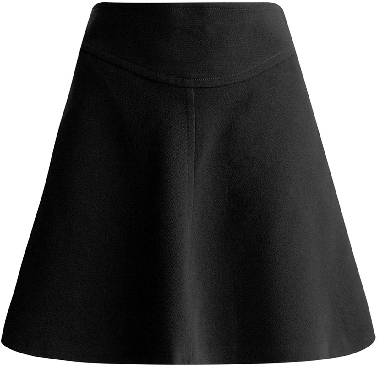 Юбка oodji Ultra, цвет: черный. 11600414-1/42014/2900N. Размер 38 (44-170) цена 2016
