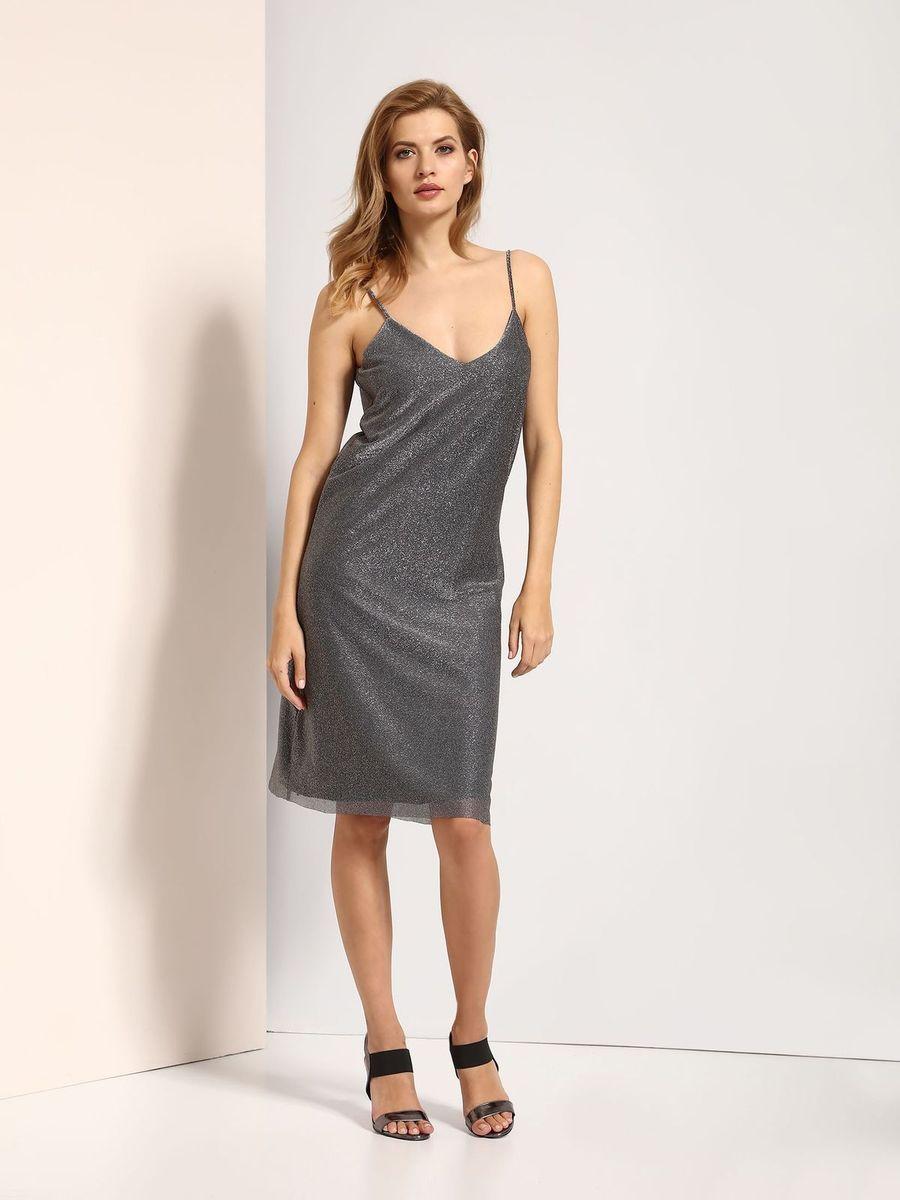 Платье Top Secret, цвет: серебряный. SSU1772SR. Размер 38 (46)SSU1772SRПлатье Top Secret выполнено из полиэстера и металла. Модель на бретельках.
