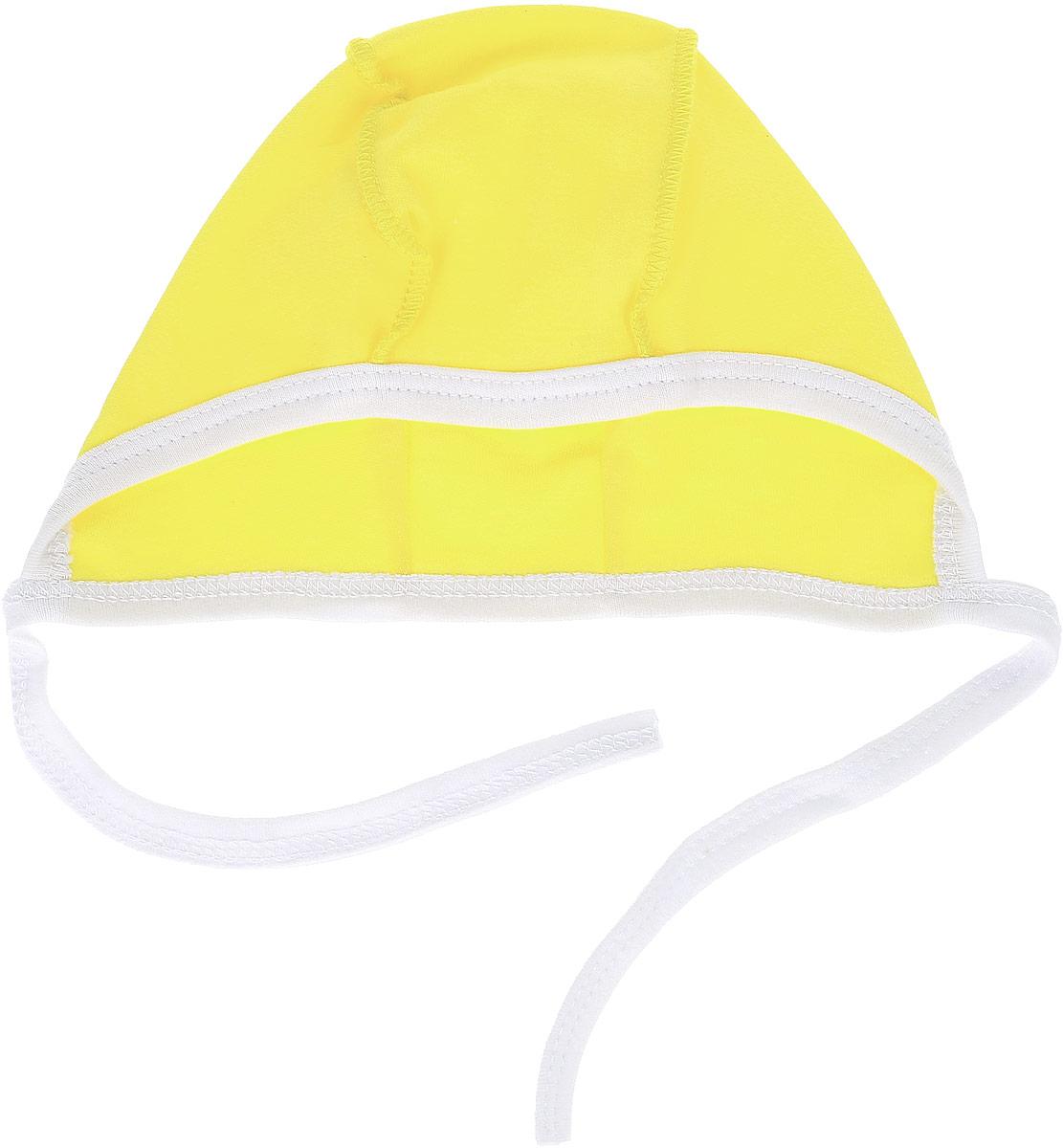 Чепчик для девочки КотМарКот, цвет: желтый. 8262. Размер 48, 6-12 месяцев8262Мягкий чепчик для девочки КотМарКот, изготовленный из натурального хлопка, не раздражает нежную кожу ребенка и хорошо вентилируется.Текстильные завязки позволяют легко и быстро регулировать обхват чепчика. Швы, выполненные наружу, обеспечивают максимальный комфорт ребенку. Такой стильный чепчик будет отличным дополнением к гардеробу вашей малышки.