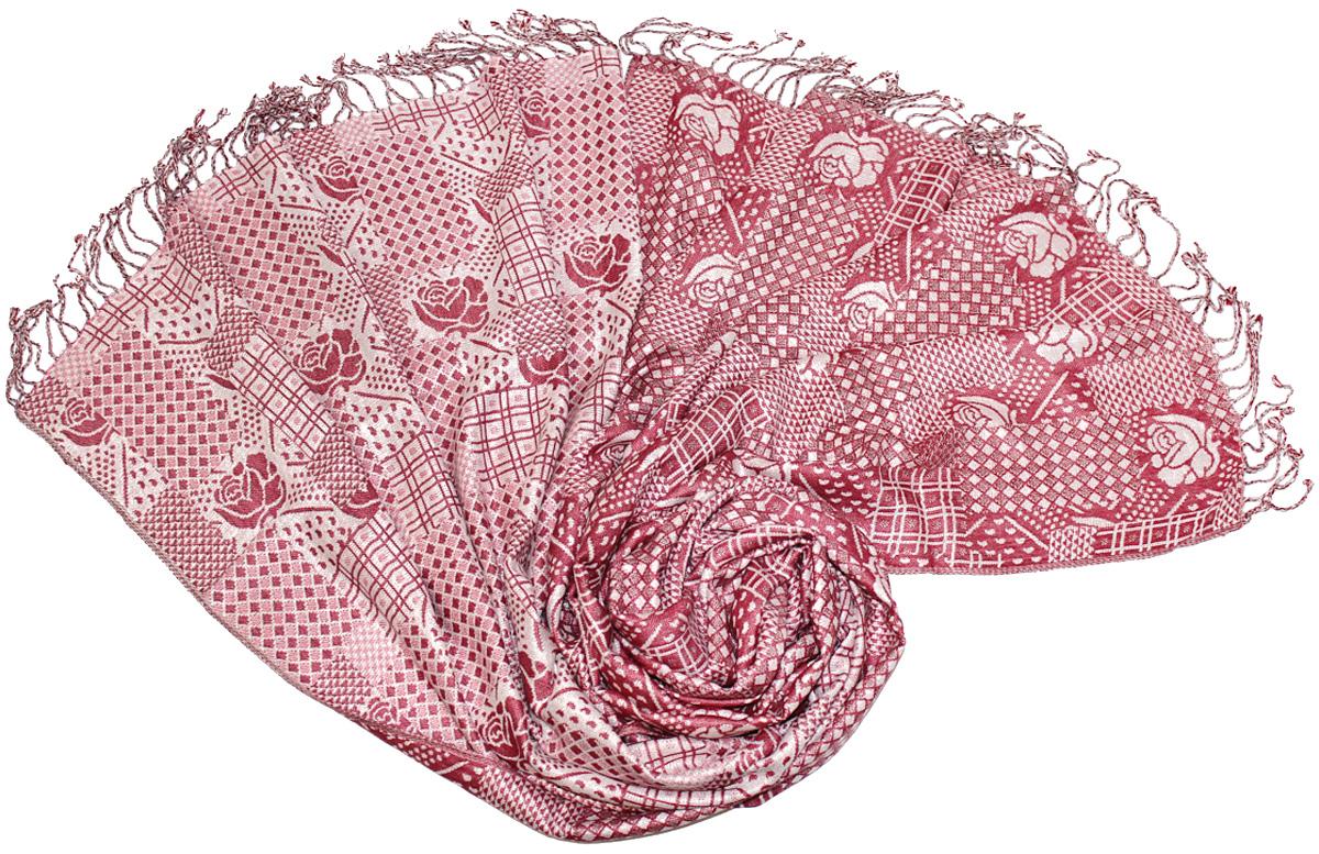 Палантин Ethnica, цвет: розовый, белый. 130125н. Размер 70 х 180 см130125нЭффектный палантин Ethnica подчеркнет ваш неповторимый стиль. Изделие выполнено из 100% вискозы и оформлено оригинальным принтом.Этот модный аксессуар гармонично дополнит ваш образ.