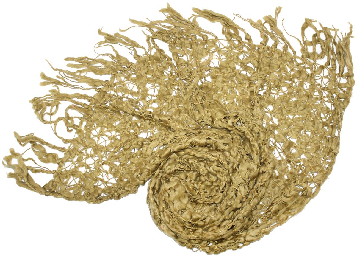 Шарф женский Ethnica, цвет: хаки. 160175. Размер 50 см х 180 см160175Женский шарф Ethnica, изготовленный из шерсти и акрила, подчеркнет вашу индивидуальность. Благодаря своему составу, он легкий, мягкий и приятный на ощупь. Изделие выполнено в оригинальном дизайне и дополнено кисточками.Такой аксессуар станет стильным дополнением к гардеробу современной женщины.