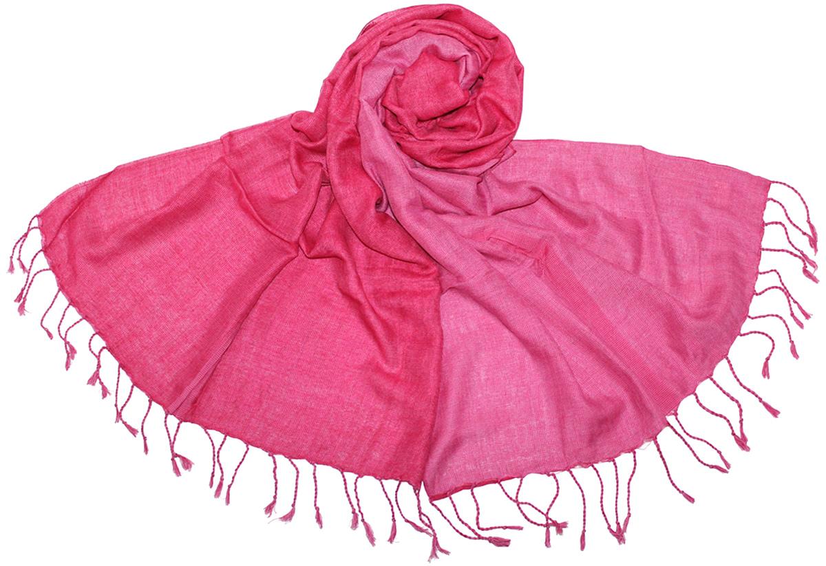 Шарф женский Ethnica, цвет: цикламеновый, сиреневый. 411125. Размер 55 см х 180 см411125Женский шарф Ethnica, изготовленный из 100% вискозы, подчеркнет вашу индивидуальность. Благодаря своему составу, он легкий, мягкий и приятный на ощупь. Изделие выполнено в ярком разноцветном дизайне и дополнено кисточками.Такой аксессуар станет стильным дополнением к гардеробу современной женщины.